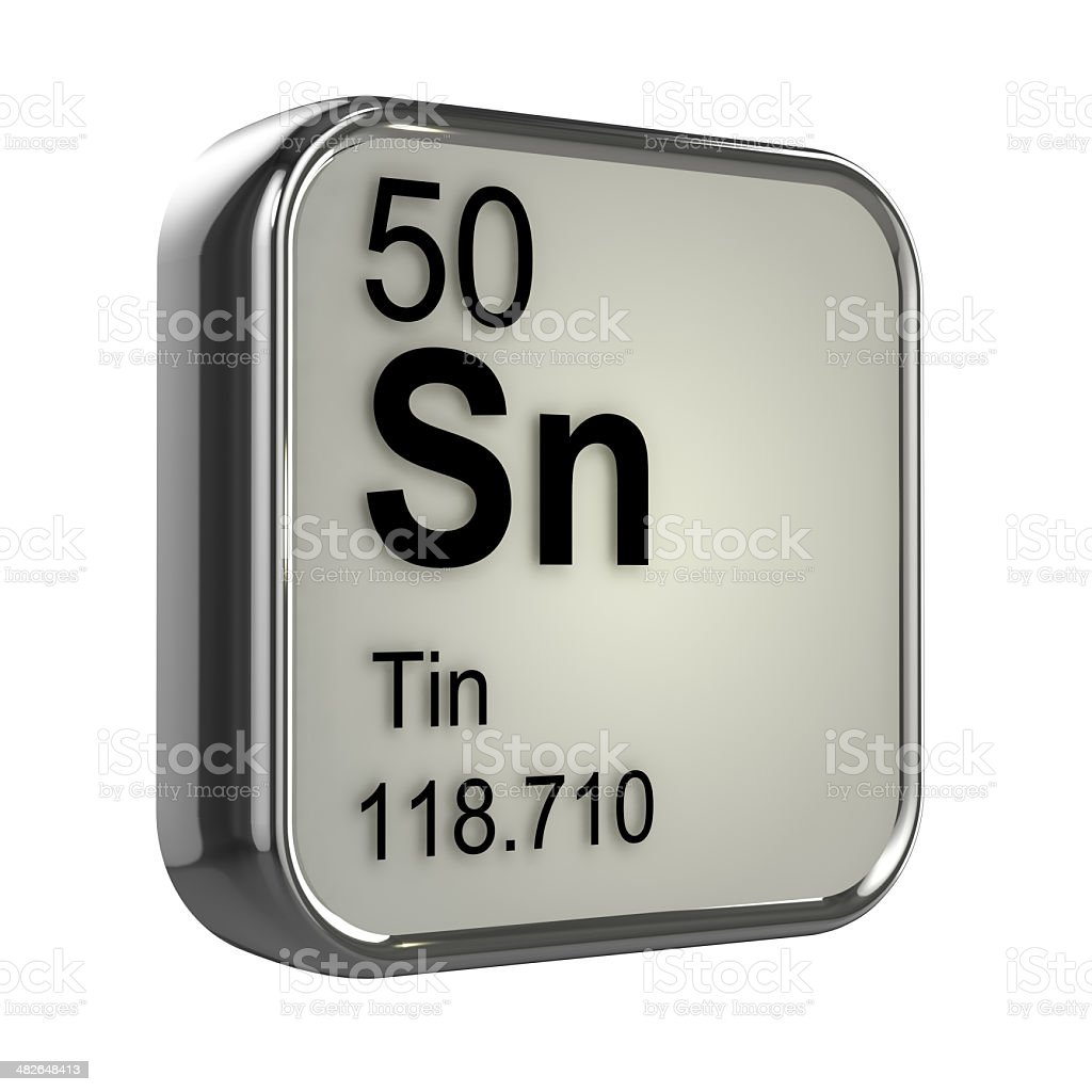 hight resolution of 3d tin element stock image