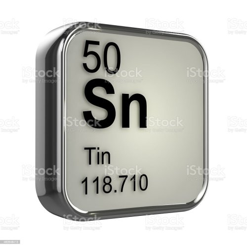 small resolution of 3d tin element stock image