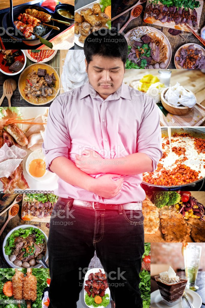 A Man Suffering From Stomach Ache Because Of Eating Too ...