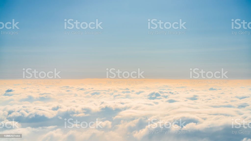 above cloud during twilight