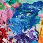 Abstrakte Kunst Hintergrund Pigment Acryl Farben Palette Stockfoto Und Mehr Bilder Von Abstrakt Istock