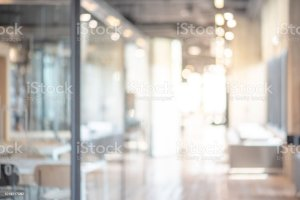blurred office blurry interior space working abstract business background defocused backdrop effect concept