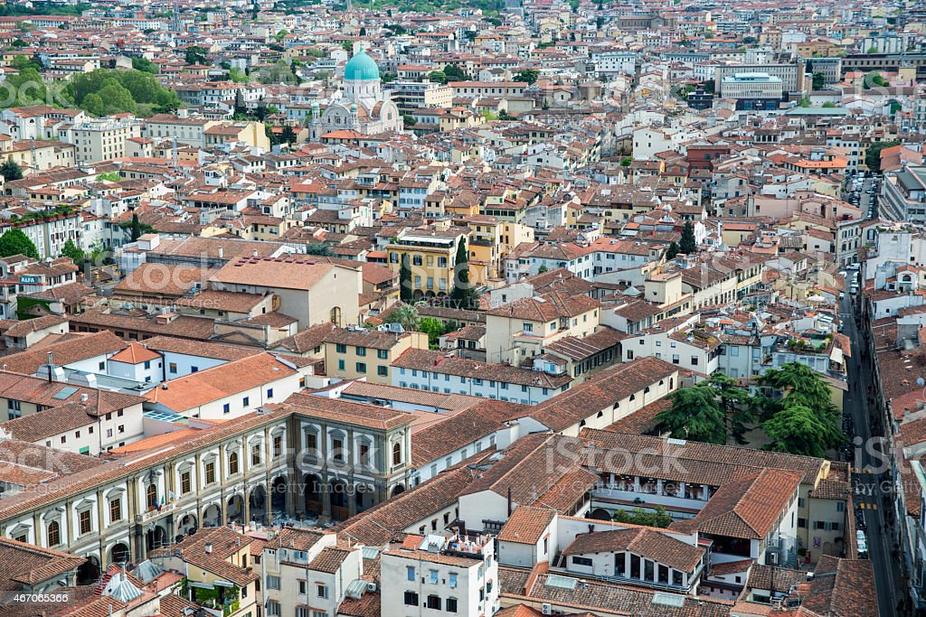 Aerial View Of Florence Italy Europe Stock Photo - Download Image Now - iStock
