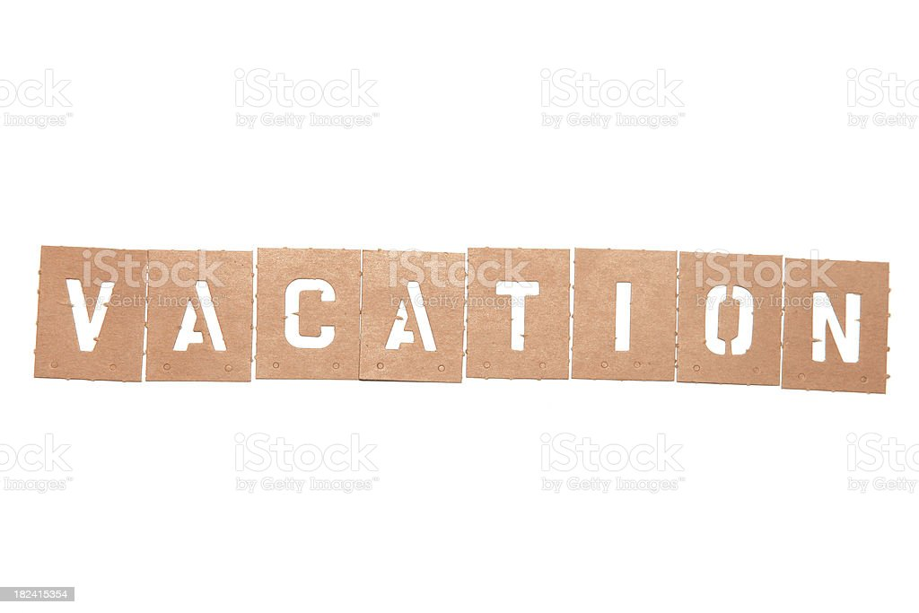 Alphabet Stencils Spelling Out The Word Vacation Stock Photo Download Image Now Istock