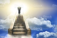 Angel Silhouette On A Stairway To Heaven Stock Photo ...