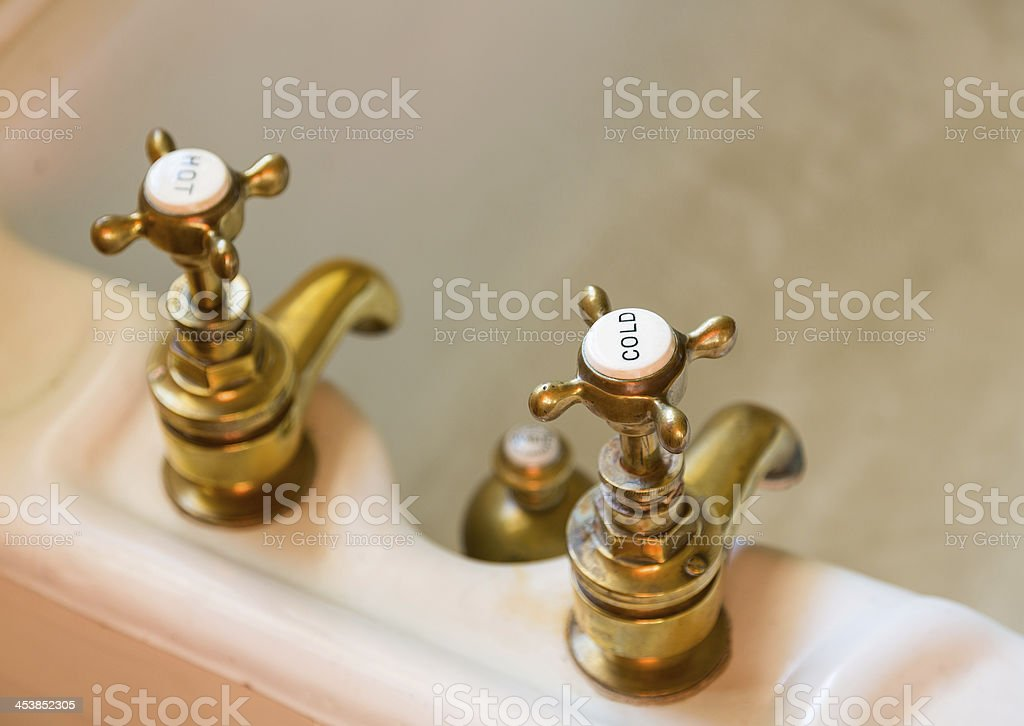 Antique Bath Taps Or Faucets Stock Photo Download Image Now Istock