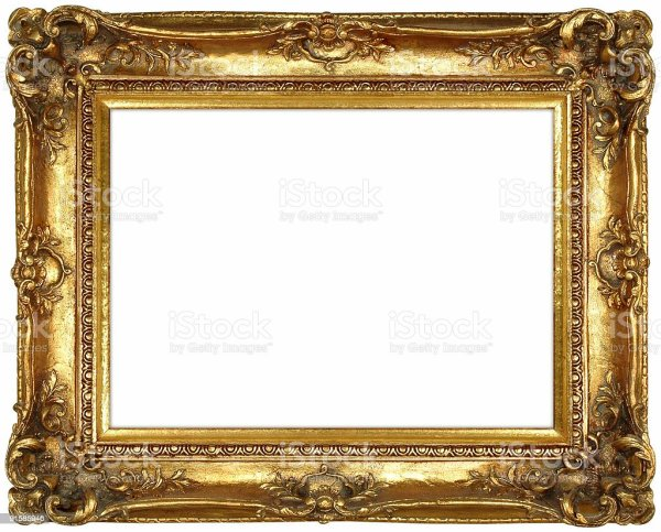 Antique Ornate Gilt Gold Frame Stock 91585946 Istock