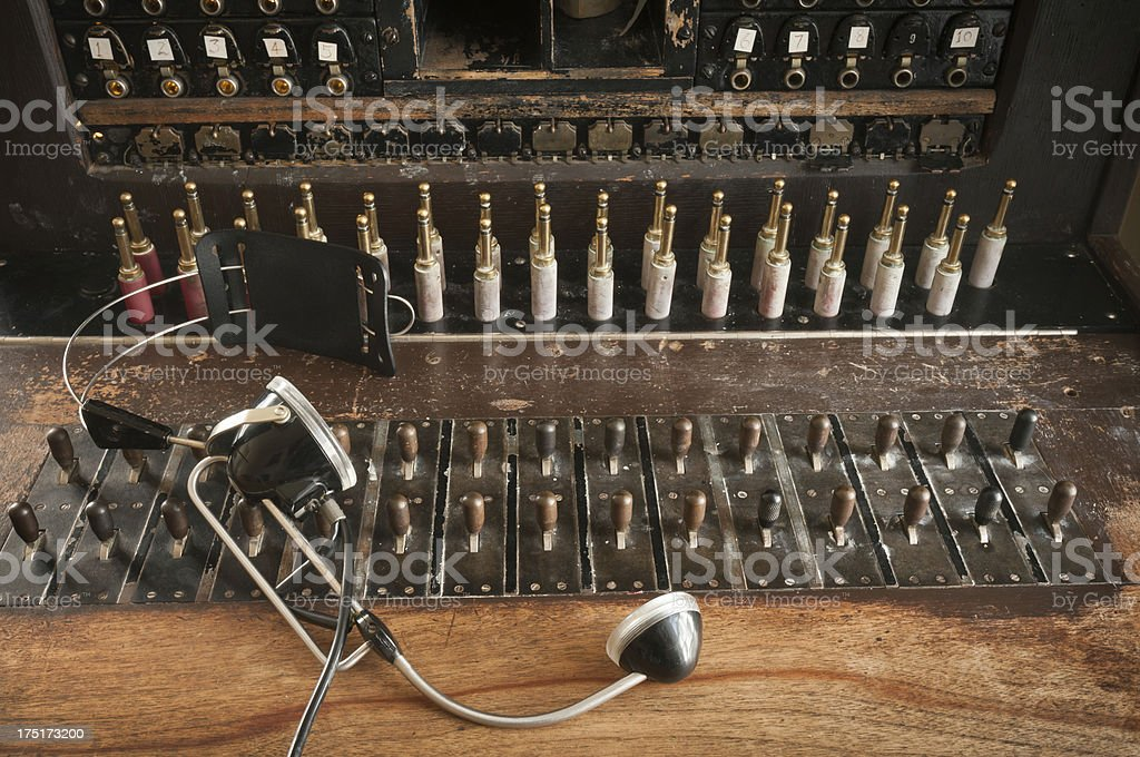 antique telephone switchboard stock