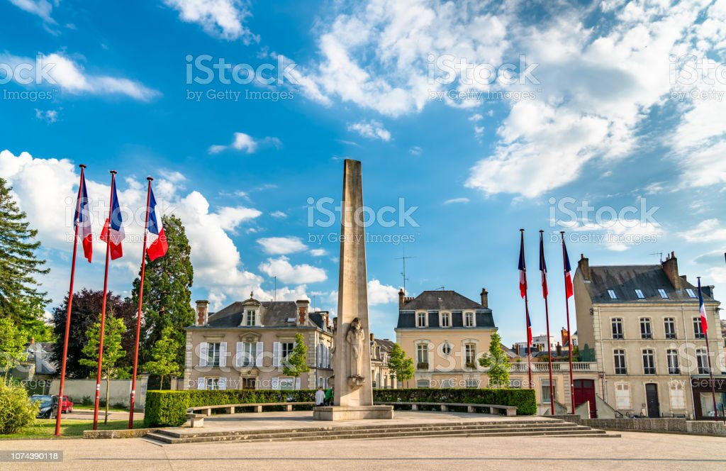 Aristide Briand Square In Le Mans France Stock Photo