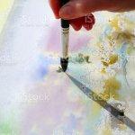 Kunst Malen Mit Wasserfarben Stockfoto Und Mehr Bilder Von Abstrakt Istock