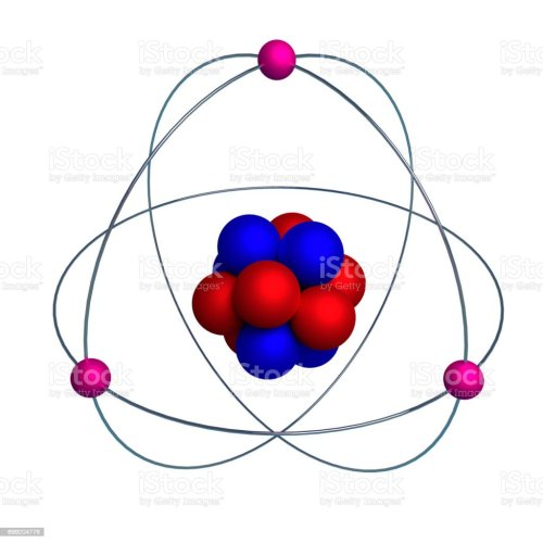 small resolution of atom model with proton neutron and electron isolated on white stock image