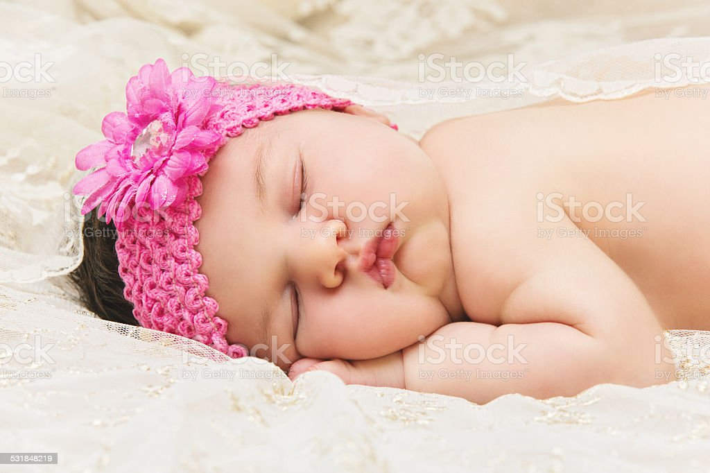 Baby Sleeping On Stomach Stock Photo - Download Image Now ...