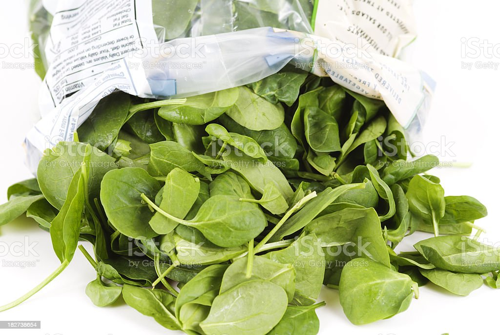 Bag Of Spinach Stock Photo - Download Image Now - iStock