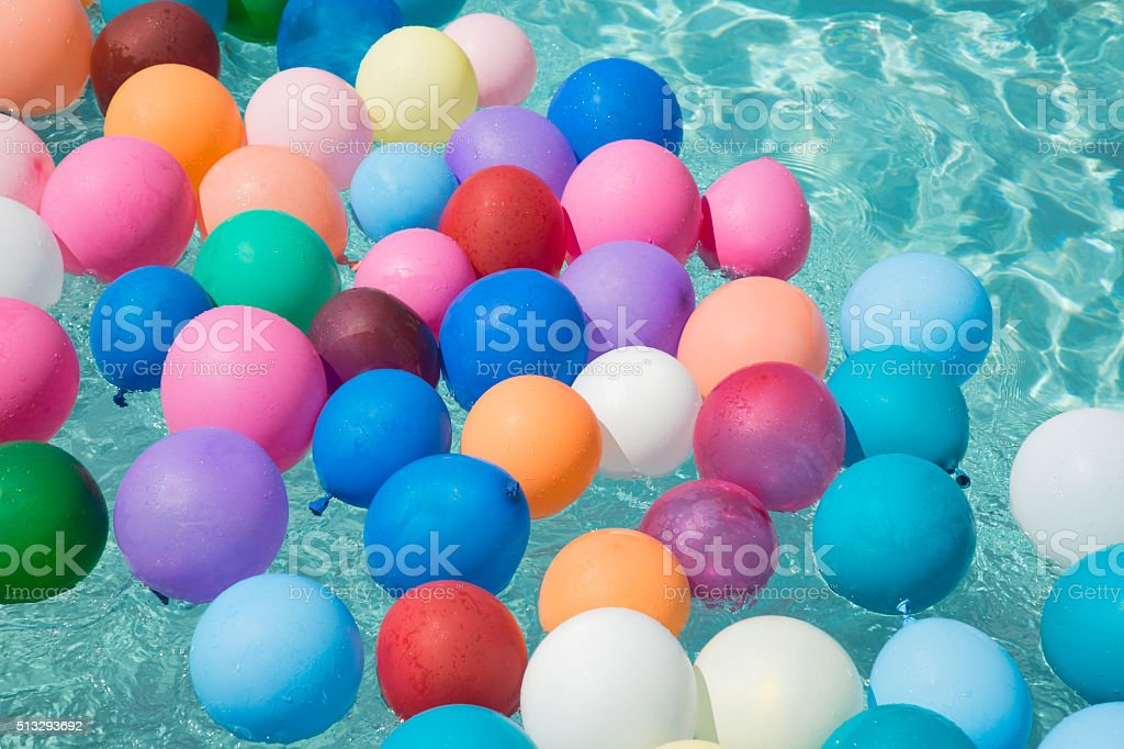 balloons floating in a