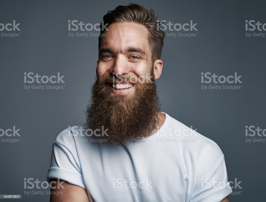 bearded handsome man with