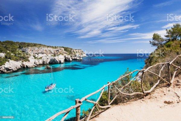 Beautiful Bay In Mediterranean Sea Stock Photo - Download ...