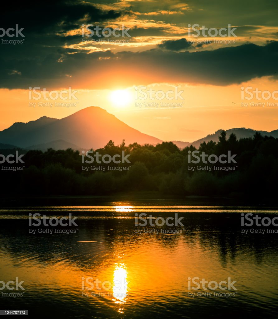 2048x1280px mountain illustration, nature, landscape, armenia, mountains, sunset, forest, mist, snowy peak, sky, trees, hd wallpaper. A Beautiful Colorful Sunset Landscape With Lake Mountain And Forest Natural Evening Scenery Over The Mountain Lake In Summer Stock Photo Download Image Now Istock