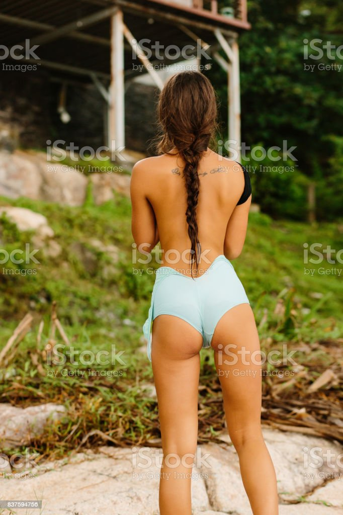 Beautiful Girl Undress Full Swimsuit Stock Photo - Download Image Now - iStock