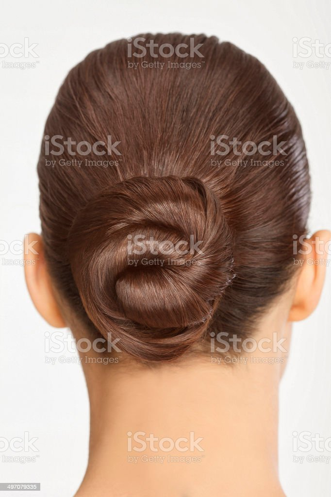 Beautiful Hairstyle Hair Bun Stock Photo  More Pictures