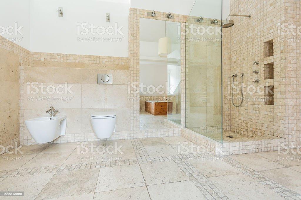 https www istockphoto com fr photo carrelage beige sur le mur gm535313665 57061934
