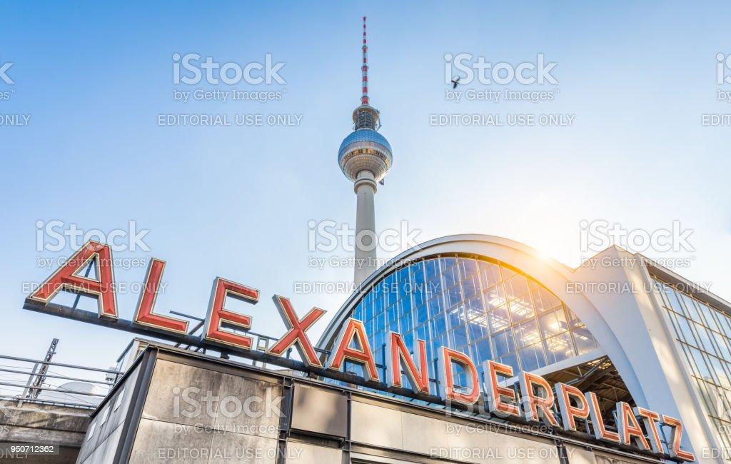 berlin alexanderplatz with tv