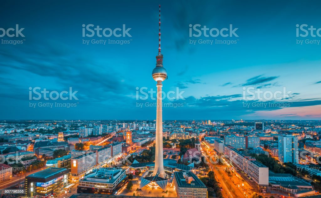 berlin skyline panorama with