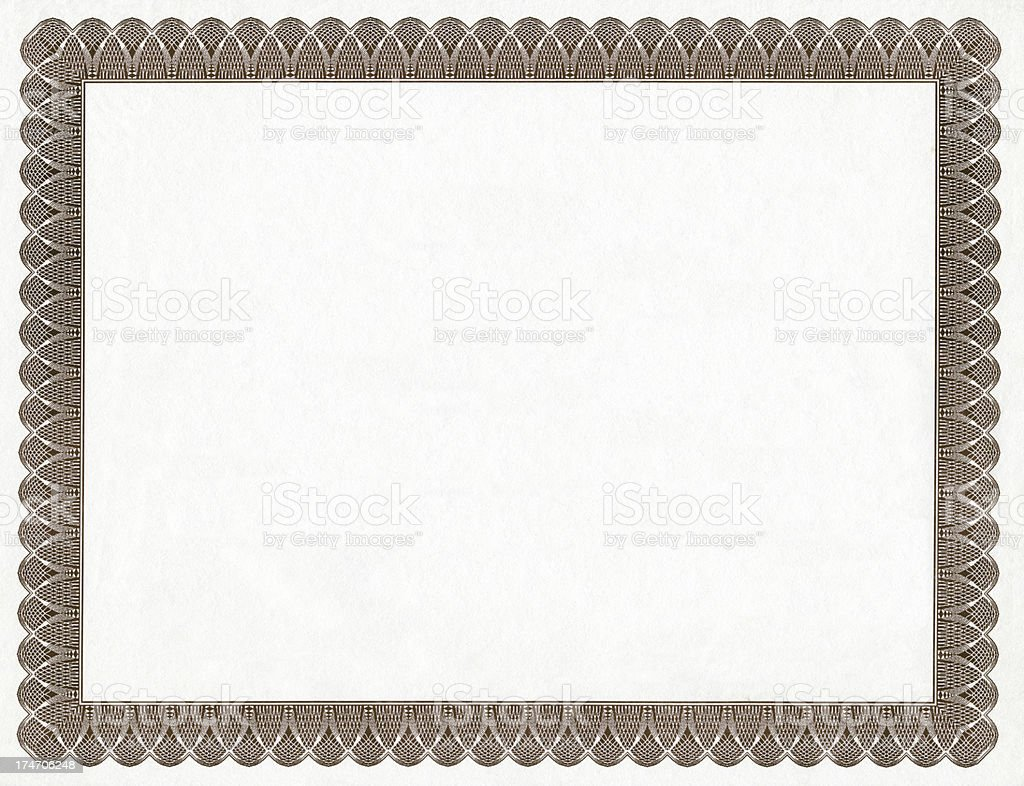 Blank Certificate Frame Stock Photo & More Pictures of Antique | iStock