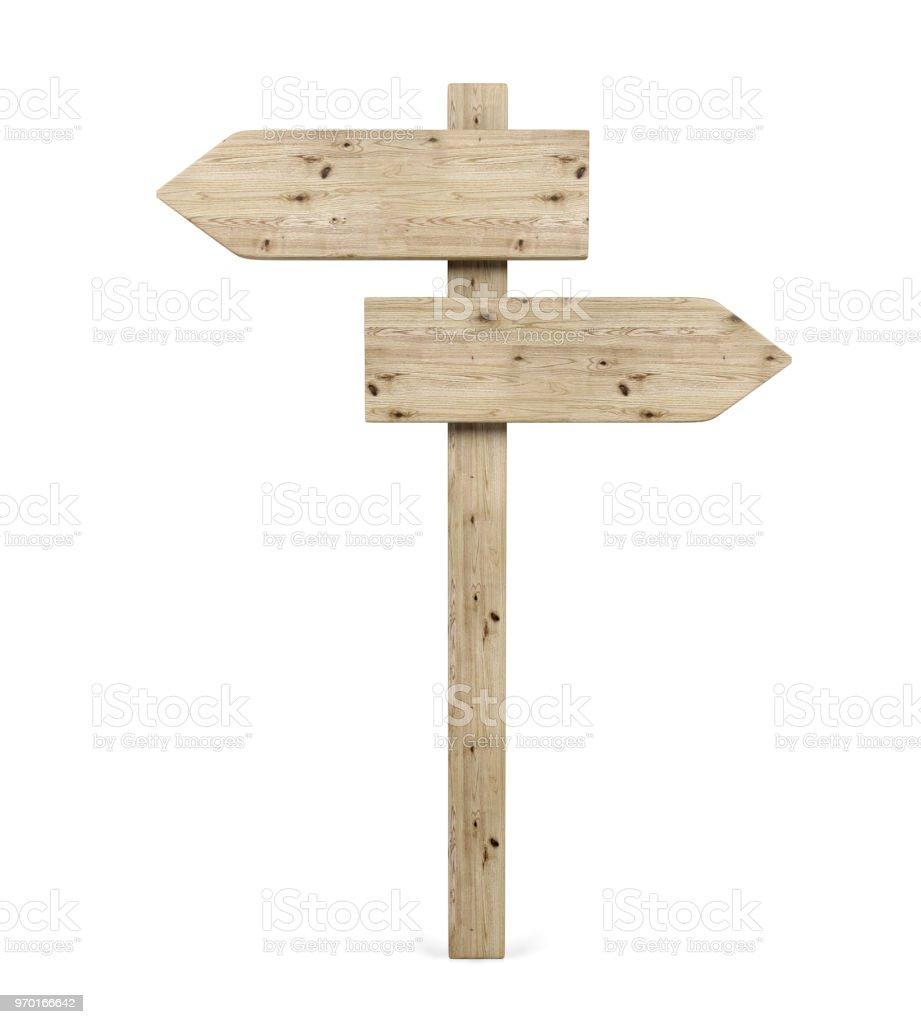 blank opposite direction wooden