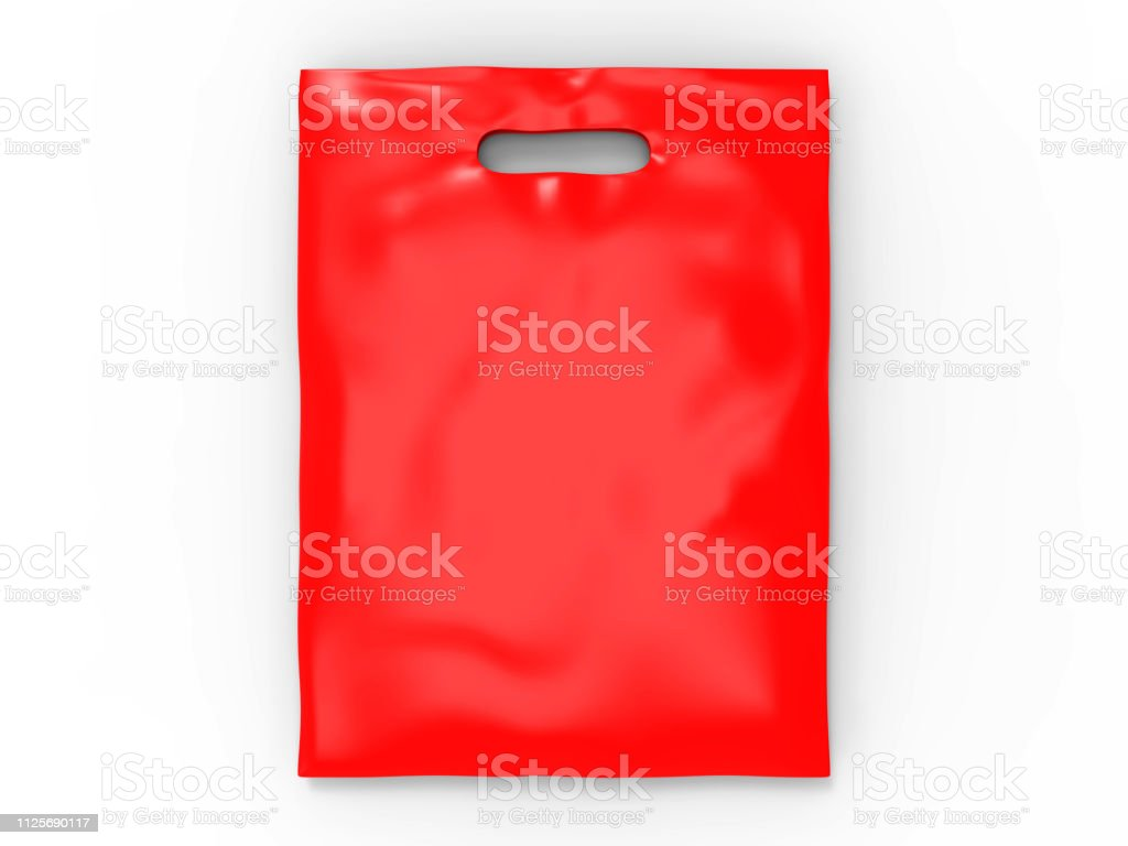 2016 , and , bags , blank , bread. Blank Patch Handle Carrier Plastic Bag For Mock Up Design 3d Render Illustration Stock Photo Download Image Now Istock