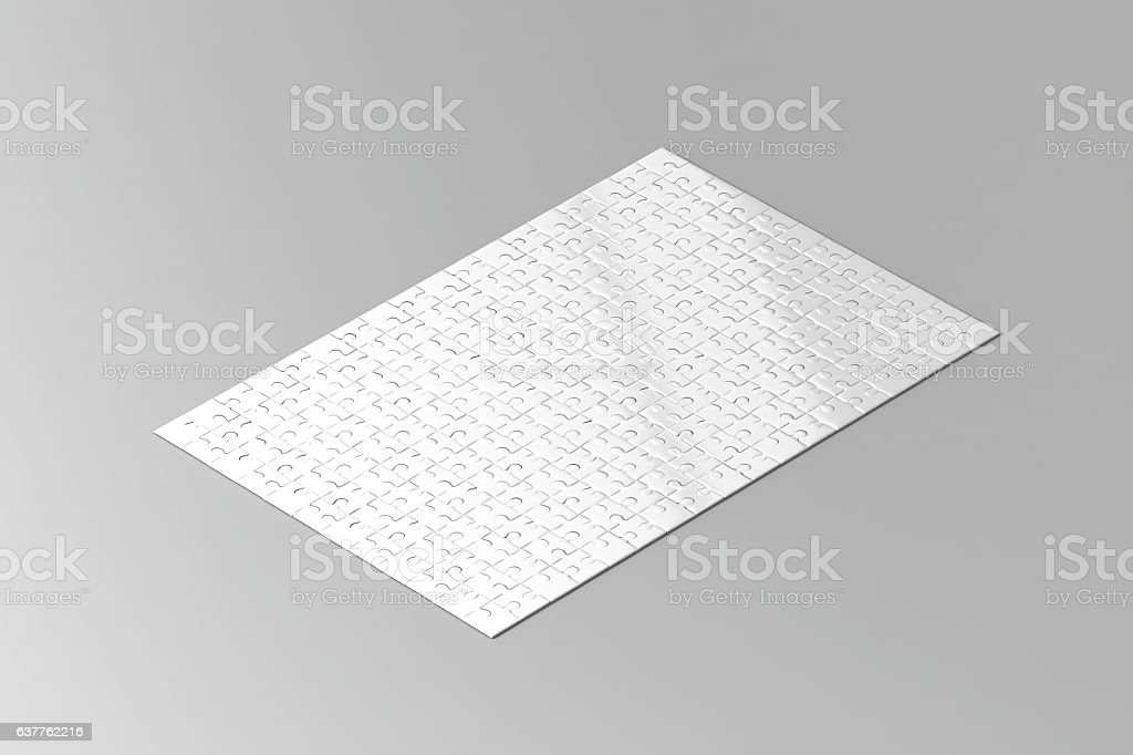 Royalty Free Silhouette Of A Blank Puzzle Template Pictures, Images ...