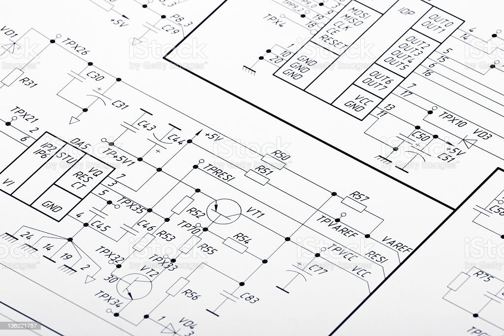 Blueprints For Electrical Wiring Stock Photo & More