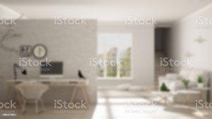 blur interior living office scandinavian corner workplace minimalist parquet domestic brick formal floor garden