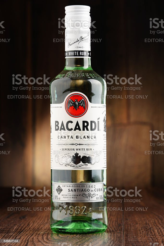 Bottle Of Bacardi White Rum Stock Photo & More Pictures of Alcohol | iStock
