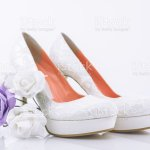 Bridal High Heel Shoes With Small Bridal Flower Bouquet Stock Photo Download Image Now Istock