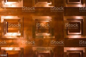 Bronze Copper Background Texture Wall Covering Squares Geometric Stock Photo Download Image Now Istock