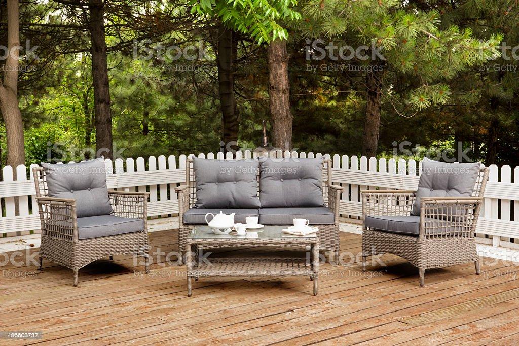 https www istockphoto com photo brown garden furniture at veranda gm486603732 73579577