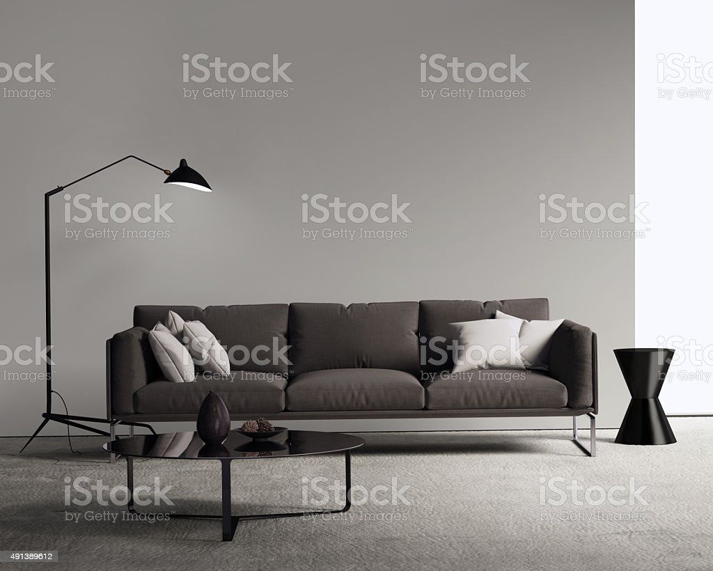 modern contemporary living room pictures fake plants for brown sofa in a stock photo more royalty free