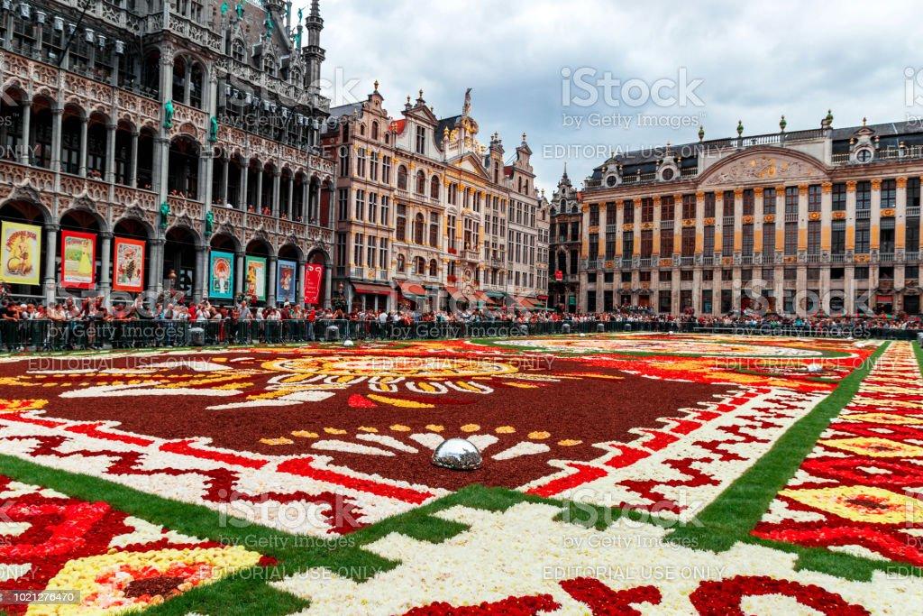 https www istockphoto com fr photo bruxelles 18 ao c3 bbt 2018 tapis de fleurs sur la grand place gm1021276470 274298452