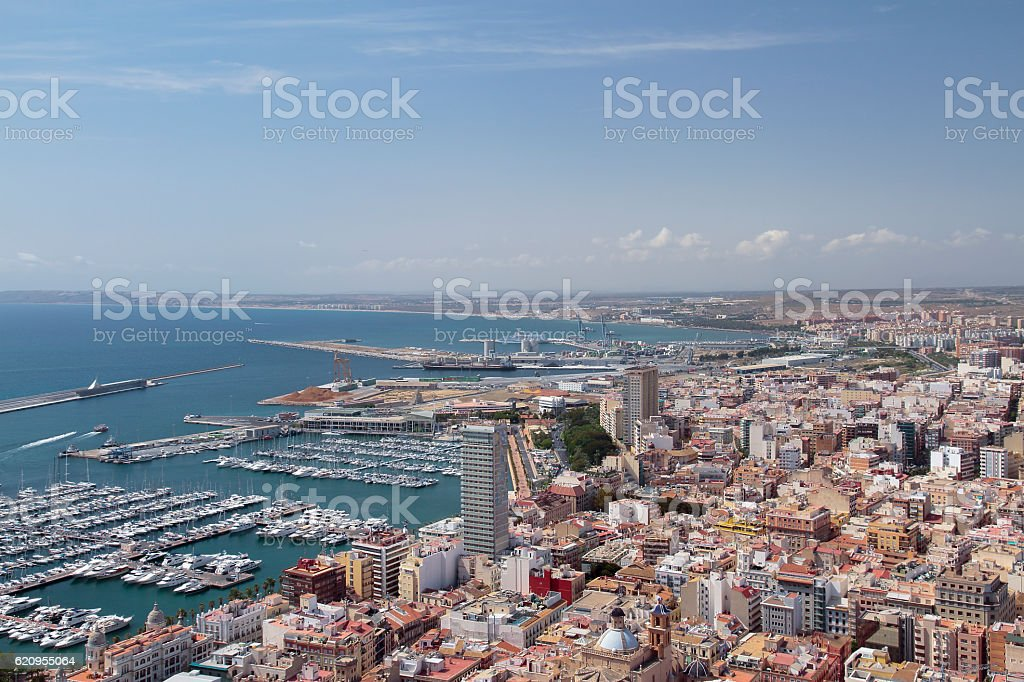 buildings and alicante harbour