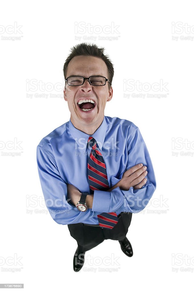 Image Of Laughing Hysterically : image, laughing, hysterically, Businessman, Laughing, Hysterically, Stock, Photo, Download, Image, IStock