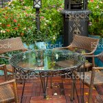Cafe In Flower Garden Stock Photo Download Image Now Istock