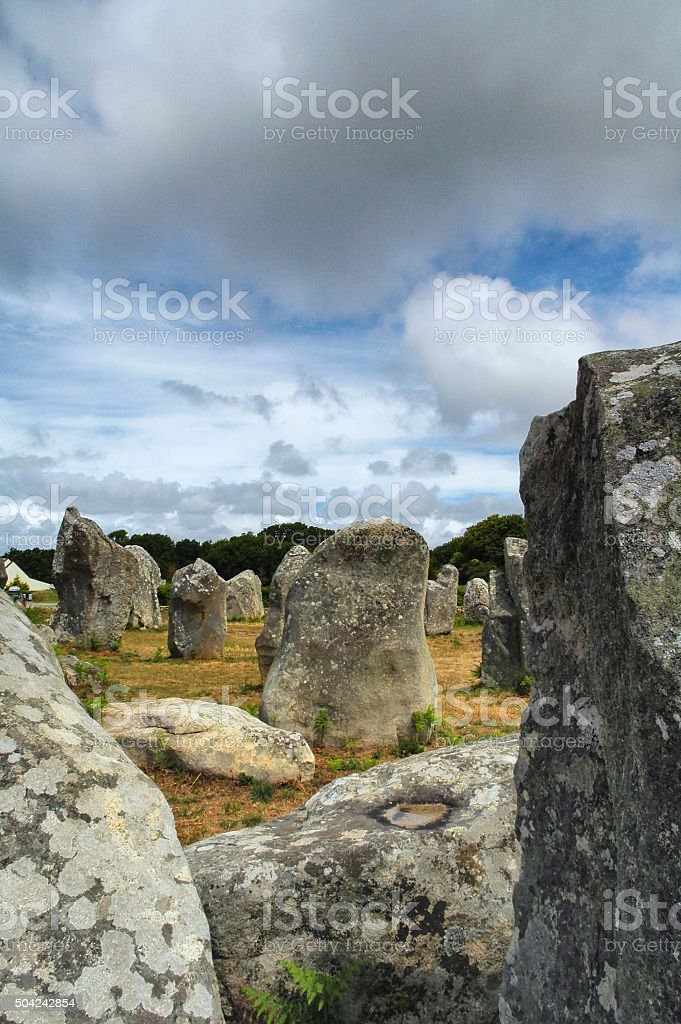Dolmen Menhir : dolmen, menhir, Carnac, Menhir, Dolmen, Stock, Photo, Download, Image, IStock