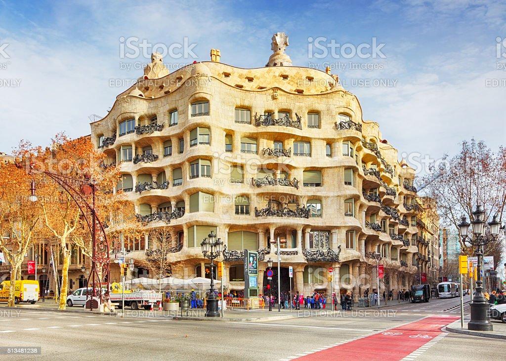 Casa Mila La Pedreda Barcelona Stock Photo  More Pictures