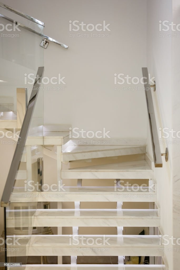 Cement Stair Railing Stainless Steel Up To The Second Floor With   Glass And Stainless Steel Stair Railing   Custom Glass   Architectural Glass   Balcony   Modern   Metal Glass