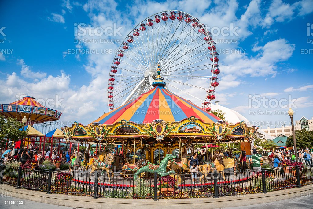 Chicago Navy Pier Stock Photo  More Pictures of Amusement