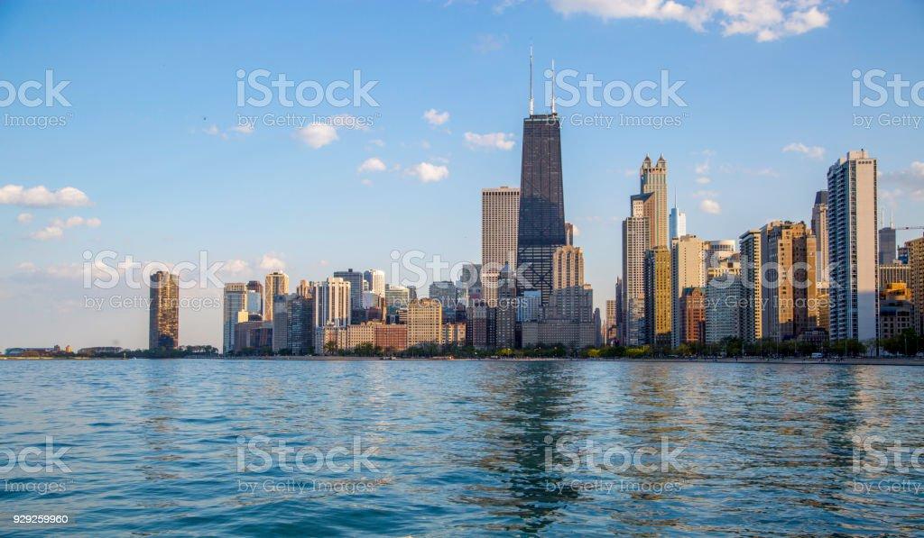 best chicago skyline stock