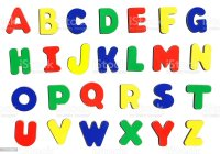Child Magnetic Alphabet Letters Stock Photo & More ...
