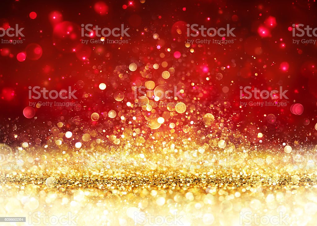 Polka Dot Wallpaper Iphone Christmas Background Golden Glitter On Shiny Red Stock
