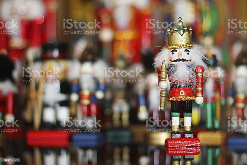 Christmas Nutcracker In Front Of Toy Soldiers Collection Stock Photo Download Image Now Istock