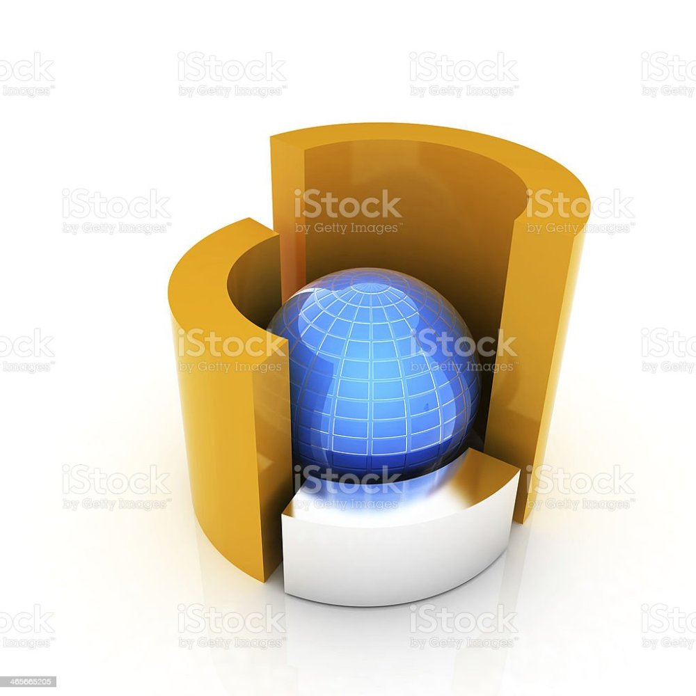 medium resolution of 3d circular diagram and sphere on white background stock image